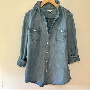 Old Navy chambray shirt size Xsmall Tunic Length